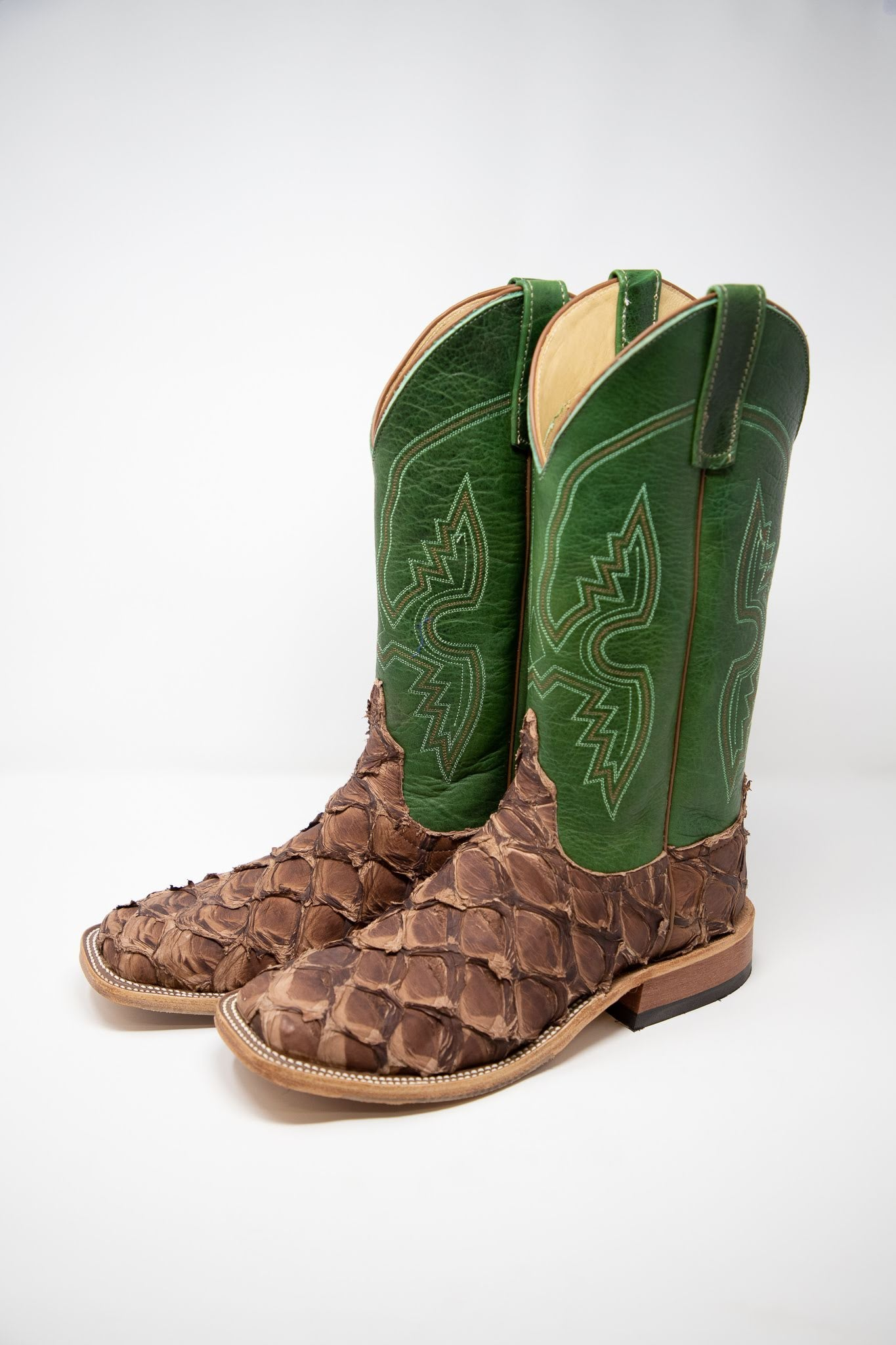 Anderson Bean X Lazy J Big Bass and Bison Jade Cowboy Boot