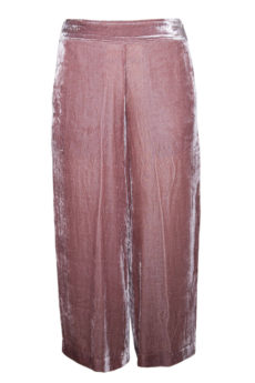 Velvet Crop Pants Mauve By Ivy Jane