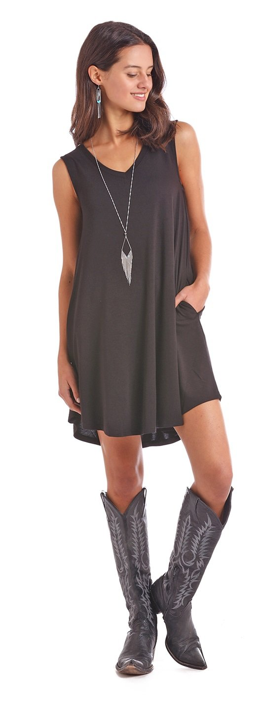 Panhandle Sleeveless Black Dress