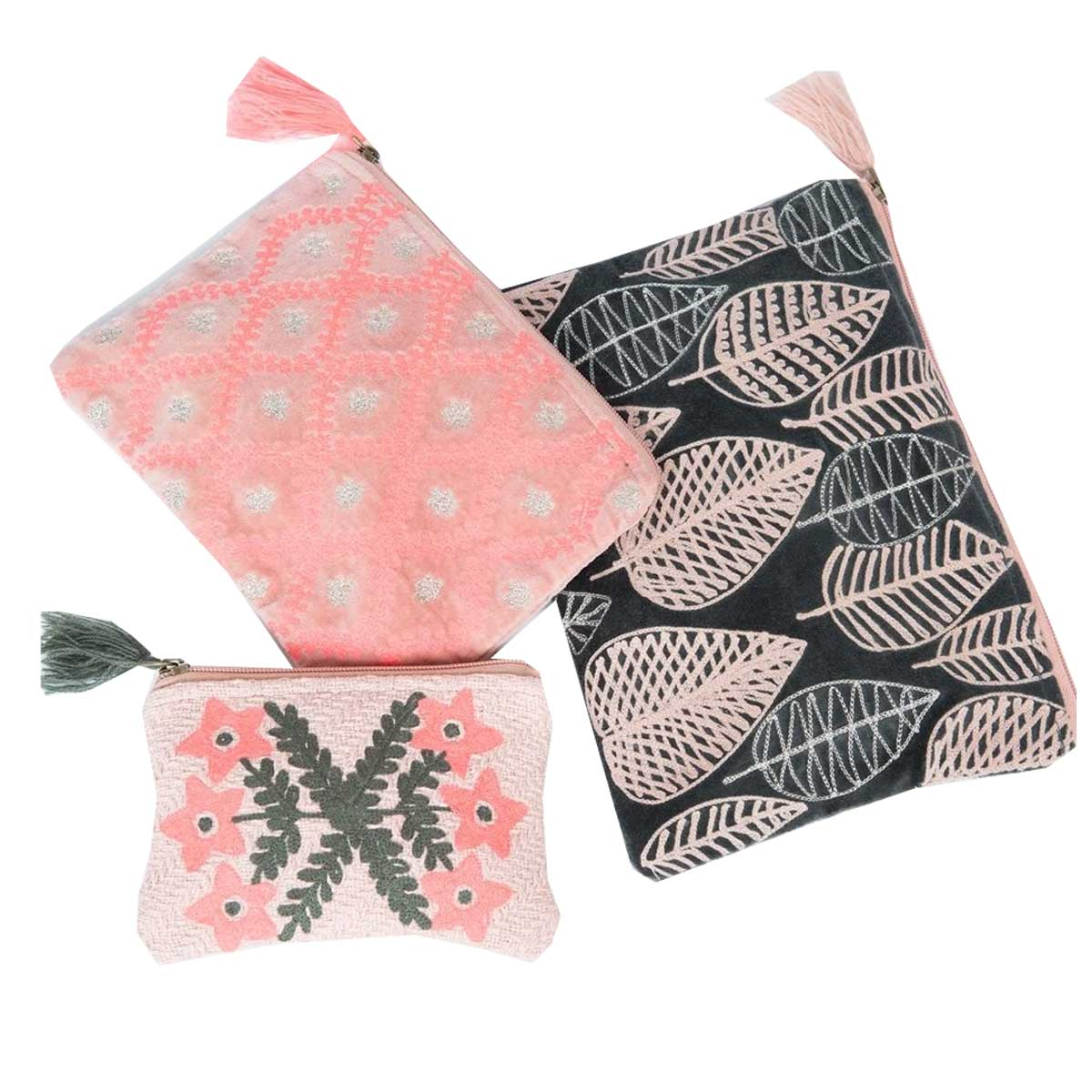 Ivy Jane Jasper & Jane Leaves Pouch Set