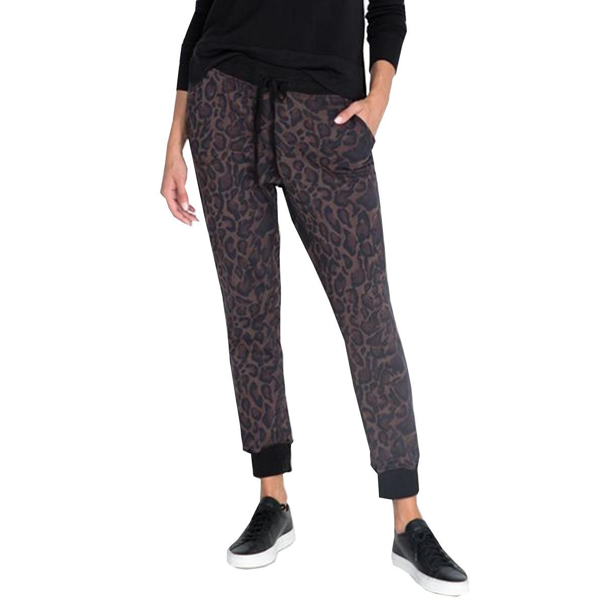 Johnny Was French Terry Jogger Pants - Leopard