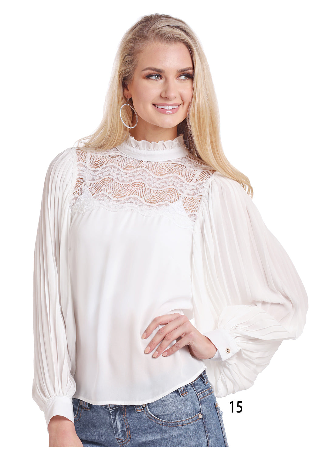 Panhandle White Lace Women's Blouse