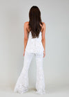 Judith March Adorable French Quarter White Lace Bell Bottom Pant