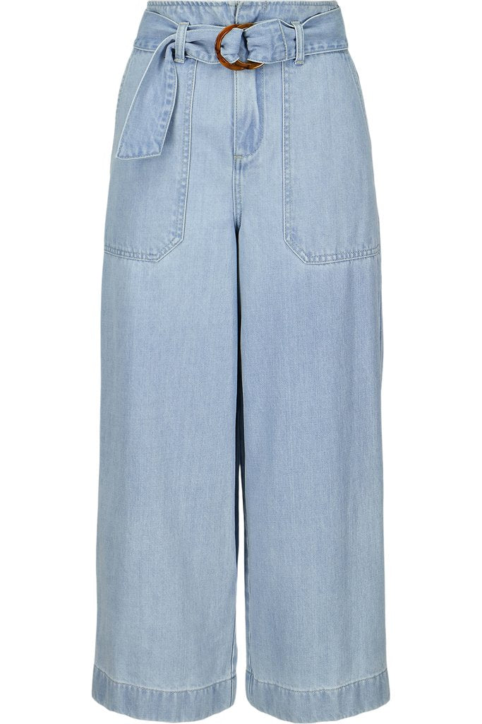 Bohemian Culotte Light Wash Denim Pant