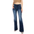 Kan Can Women's Huxley Mid Rise Flare Jeans - Dark Wash