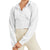 Mono B Women's Cropped Jacquard Hoodie Jacket with Bishop Sleeves - White