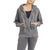 Mono B Women's Fleece Hoodie Jacket with Tapered Sleeves - Black