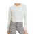 Mono B Women's Pigment-Dyed Twist-Front Terry Cotton Pullover - Natural
