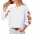Blue Buttercup Women's Butterfly Print Pullover Top - Off White