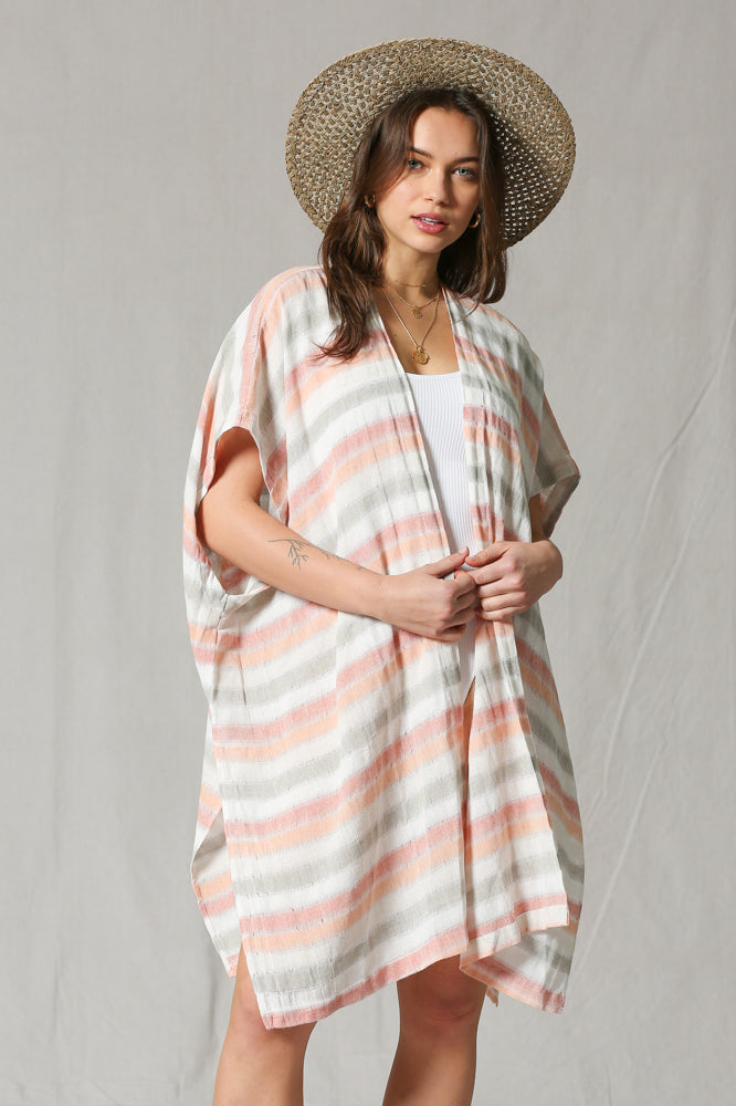 Women's Striped Kimono By ByTogether