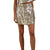 By Together Women's Woven Sequin Mini Skirt - Silver Gold