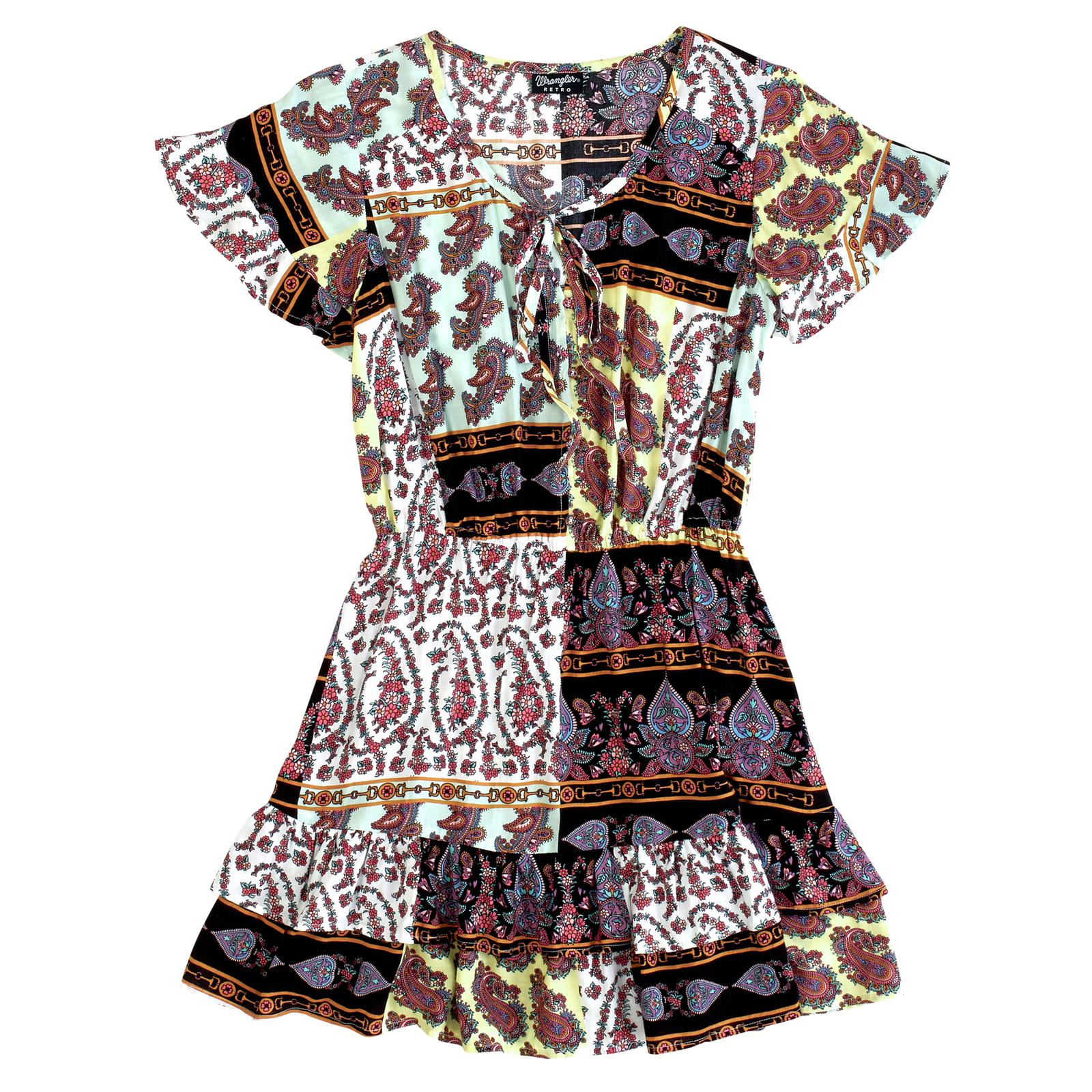 Wrangler Paisley Patch Women's Flouncy Dress