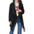 Wrangler Women's Long Sleeve Duster Fashion Top - Black