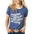 Wrangler Women's Retro American Way Ringer T-Shirt - Heather Blue