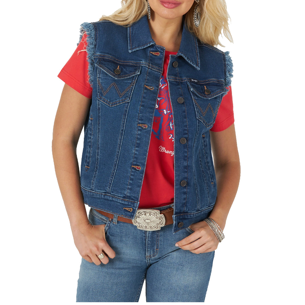 Wrangler Women's Retro Punchy Sleeveless Vest - Denim