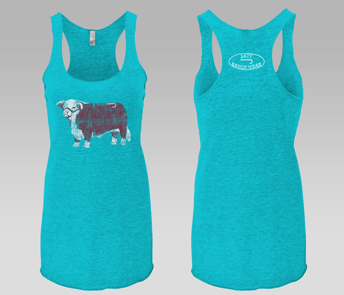 Lazy J Ranch Wear Turquoise Jughead Patch Tank