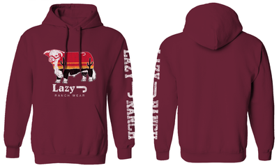 Lazy J Ranch Wear Cardinal Maroon Sunrise Hoodie