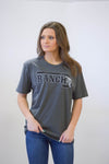 "Lazy J Black ""J Ranch"" Gunmetal Grey Short Sleeve T-Shirt"
