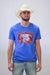 Lazy J Red Elevation Royal Blue Short Sleeve T-Shirt