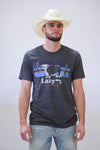 Lazy J Sunset Hereford Charcoal Gray Short Sleeve T-Shirt - Lazy J Ranch Wear