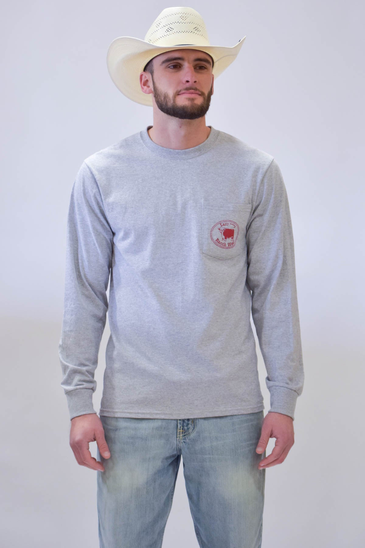 Lazy J Red Hereford Mafia Long Sleeve T-Shirt