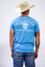 Lazy J Aqua Blue Ranch Label Short Sleeve T-Shirt