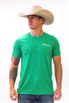 Lazy J Caddy Bull Logo Green Short Sleeve T-Shirt
