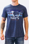 Lazy J Sunset Logo Navy Short Sleeve T-Shirt