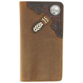 Silver Creek Tooled Buckaroo Bark Wallet