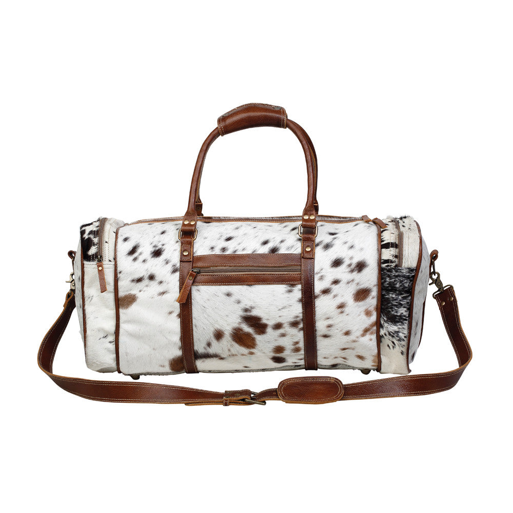 Cowhide Leather Travel Duffle Bag