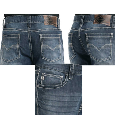 Rock & Roll Cowboy Relaxed Fit Straight Leg Double Barrel Men's Jeans
