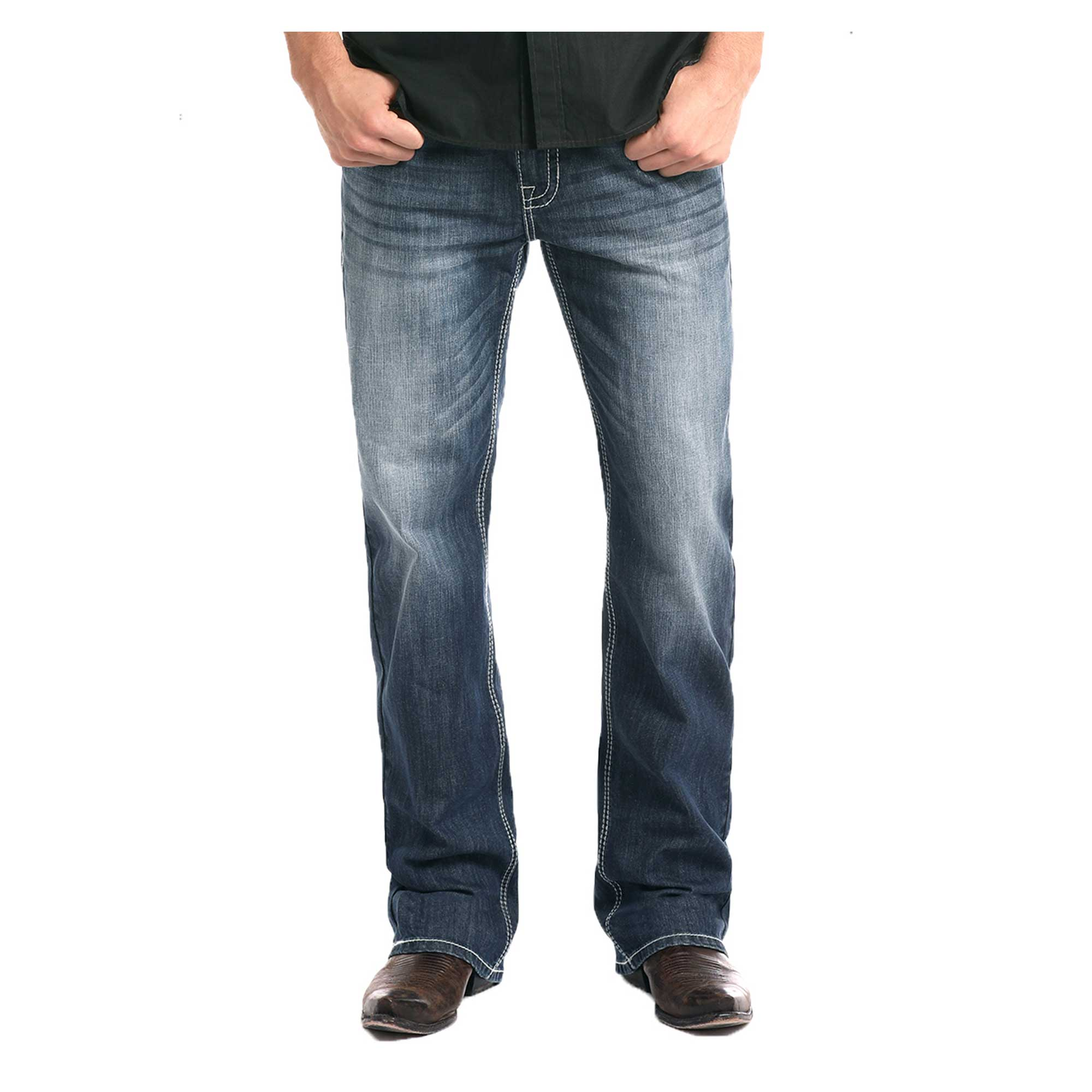 Panhandle Men's Relaxed Fit ReFlex Straight Leg Double Barrel Jeans