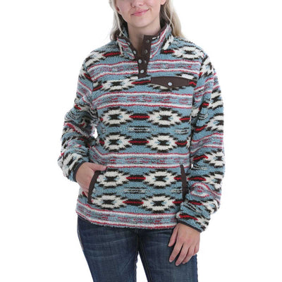 Cinch Women's Printed Fleece Pullover - Multi