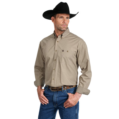 Wrangler George Strait Long Sleeve Geometric Print Shirt