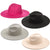 Fame Accessories Flat Brim Fedora Fashion Hat