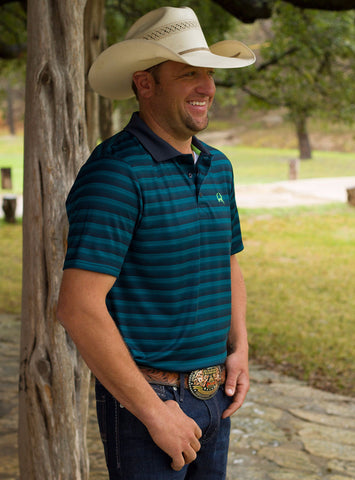 ARENAFLEX Athletic Tech Teal Stripe Shirt by CINCH