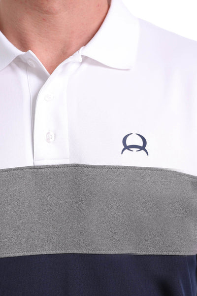 Cinch Short Sleeve Grey Tone Polo ArenaFlex Shirt
