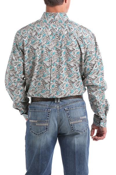 Cinch Paisley Long Sleeve Men's Button Down