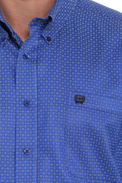 Cinch Classic Fit Blue Print Men's Button Down