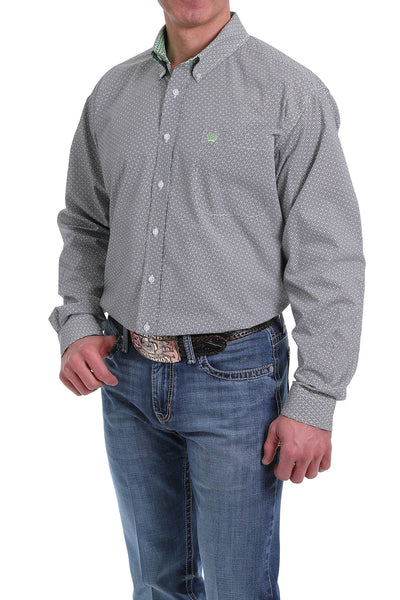 Cinch Long Sleeve Blue Print Shirt