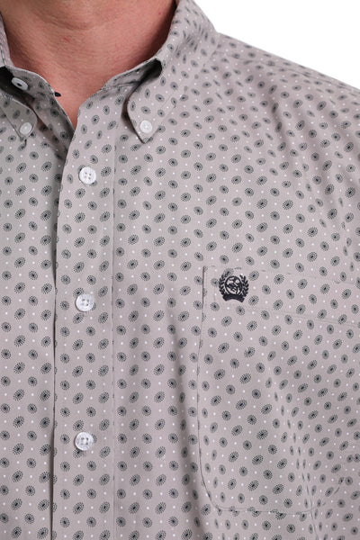 Cinch Men's Paisley Print Button Up  Long Sleeve Shirt