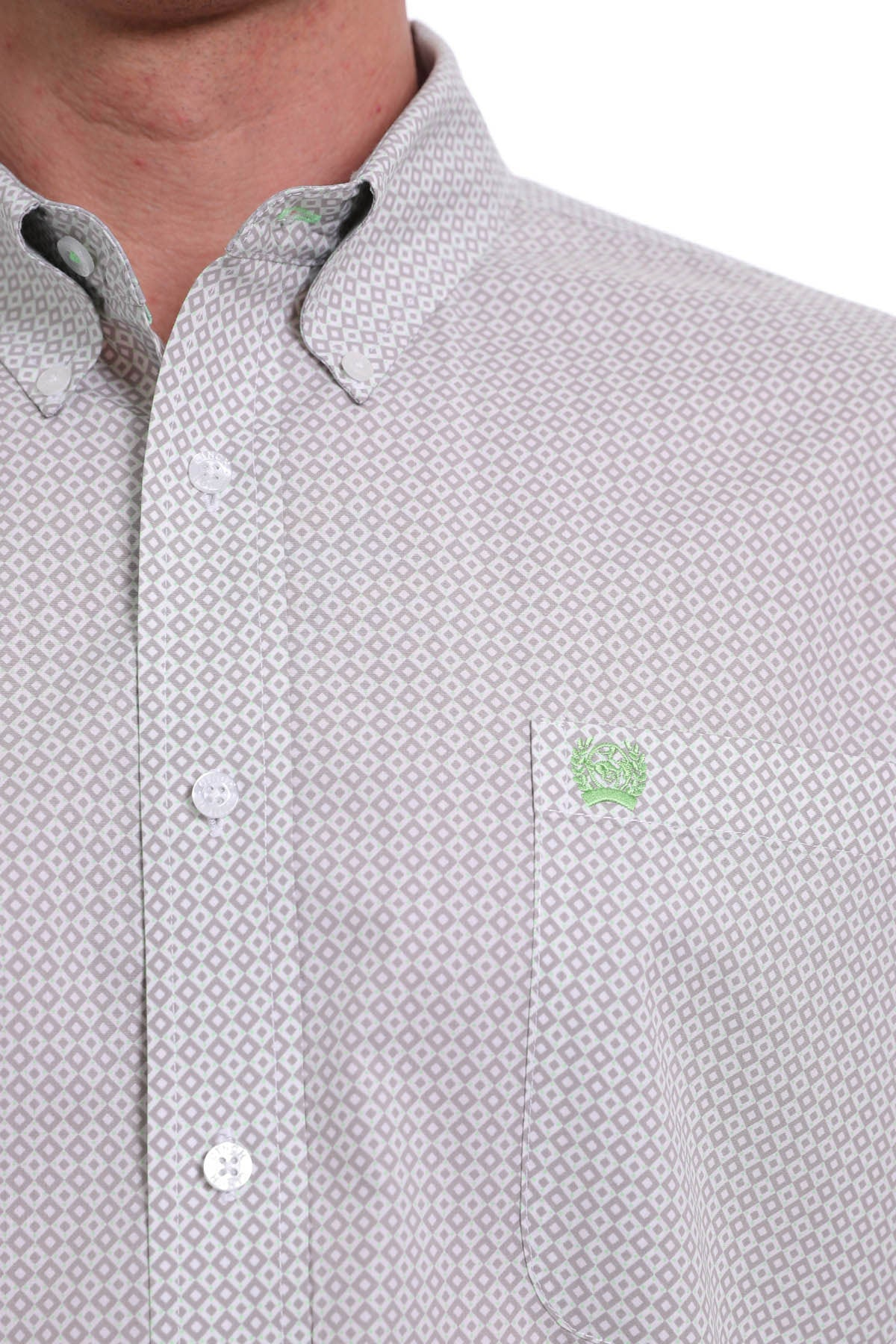 Cinch Long Sleeve Print Button Down Shirt