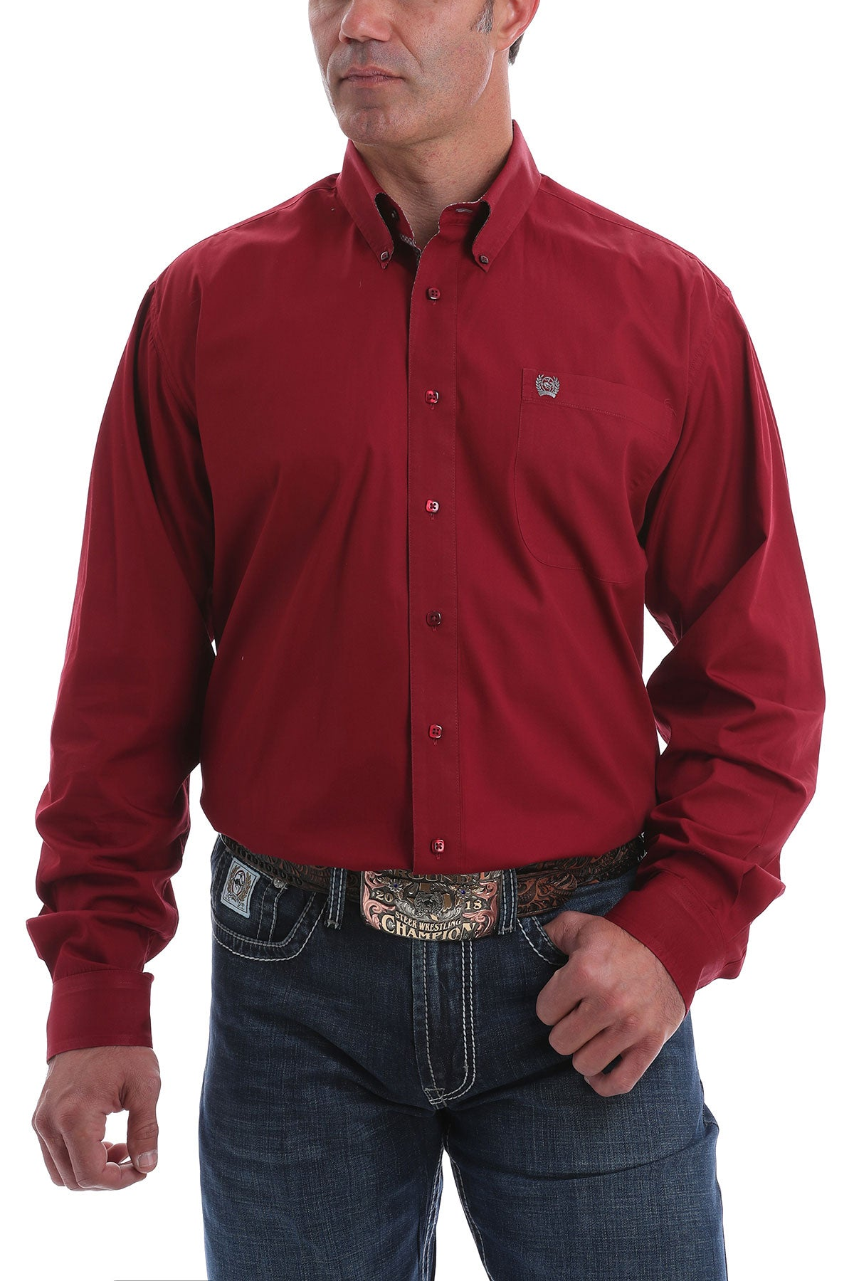 Men's Cinch Long Sleeve Burgundy