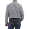 Cinch Men's Button Plain Weave Western Long Sleeve Shirt  - White