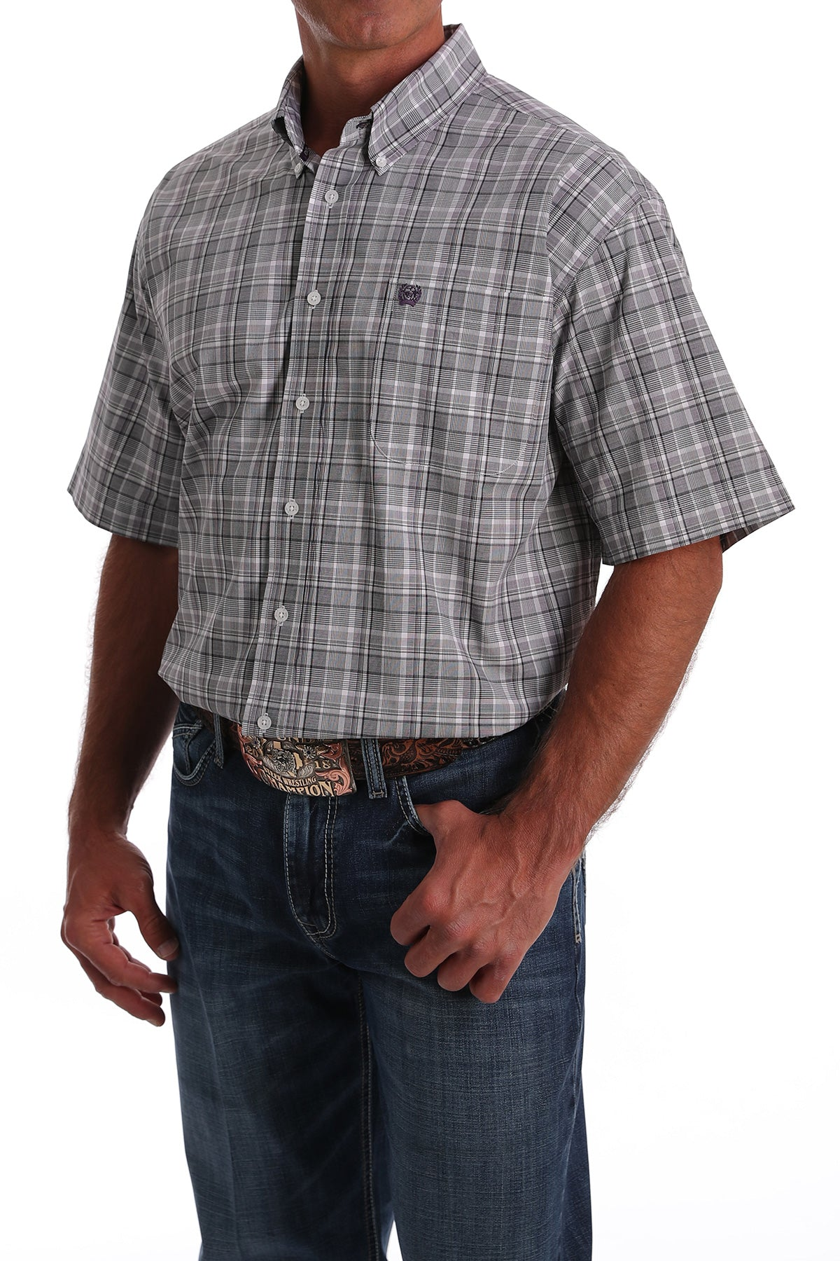 Men's Short Sleeve Plaid