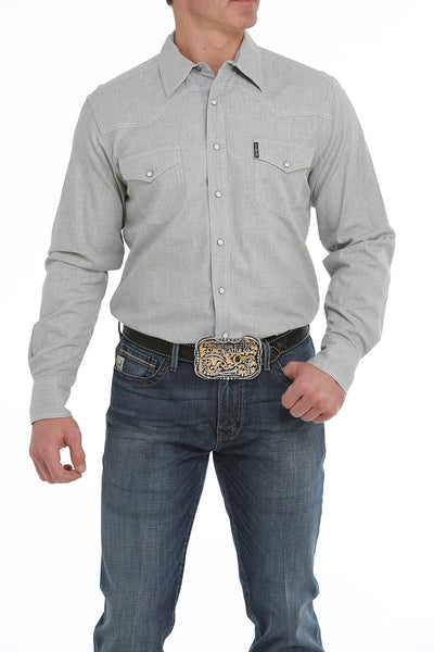 Cinch Light Denim Modern Fit Men's Pearl Snap