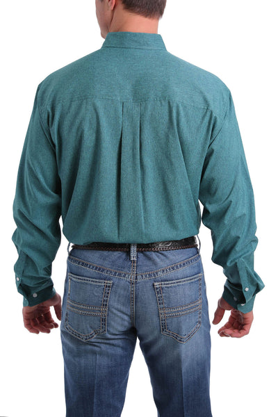 Cinch Men's Arena Flex Dry Material Long Sleeve Shirt - Emerald