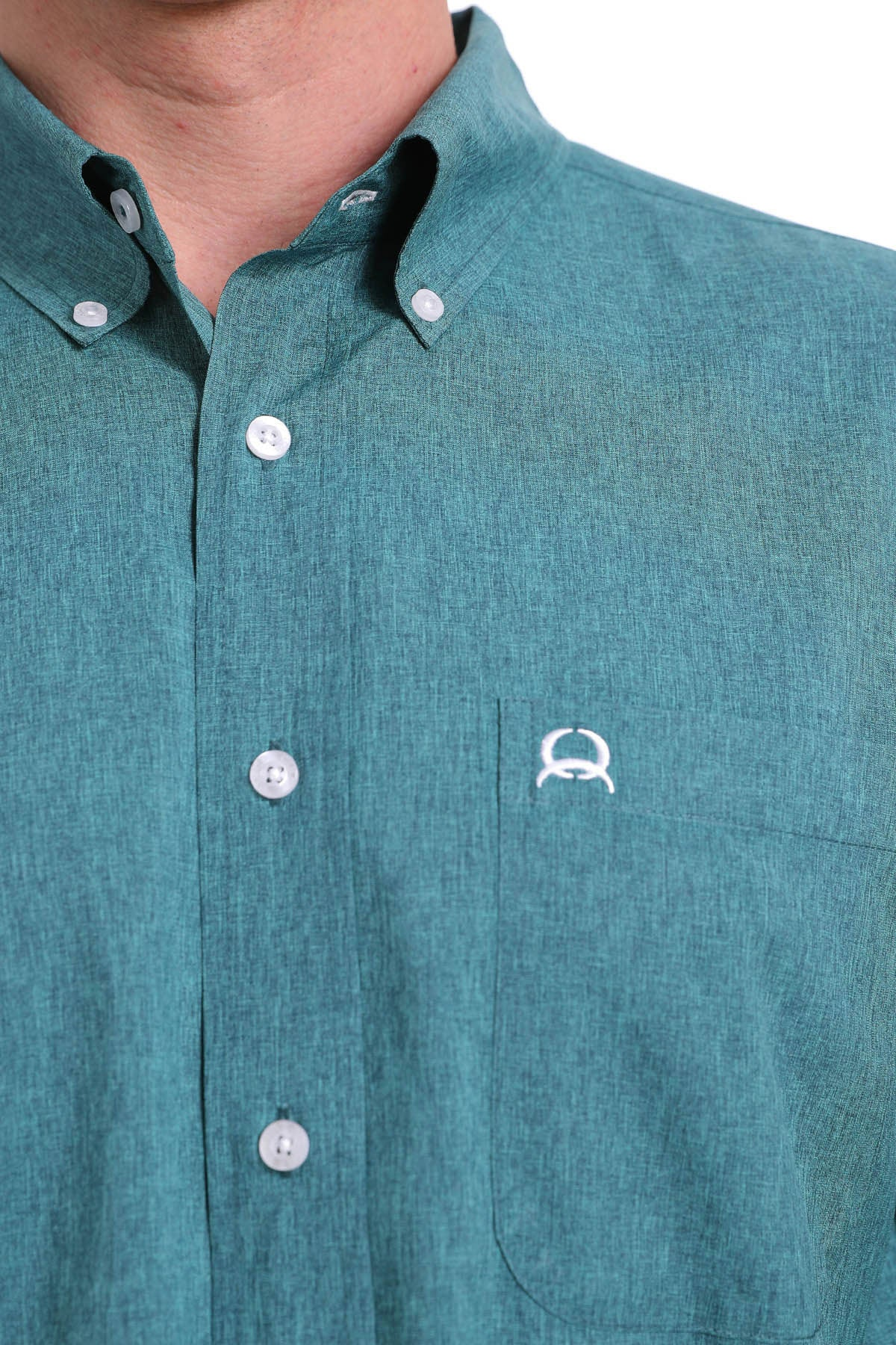 Cinch Arena Flex Dry Material Long Sleeve Emerald Shirt