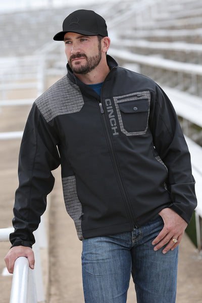 Men's Black Bonded Jacket by Cinch
