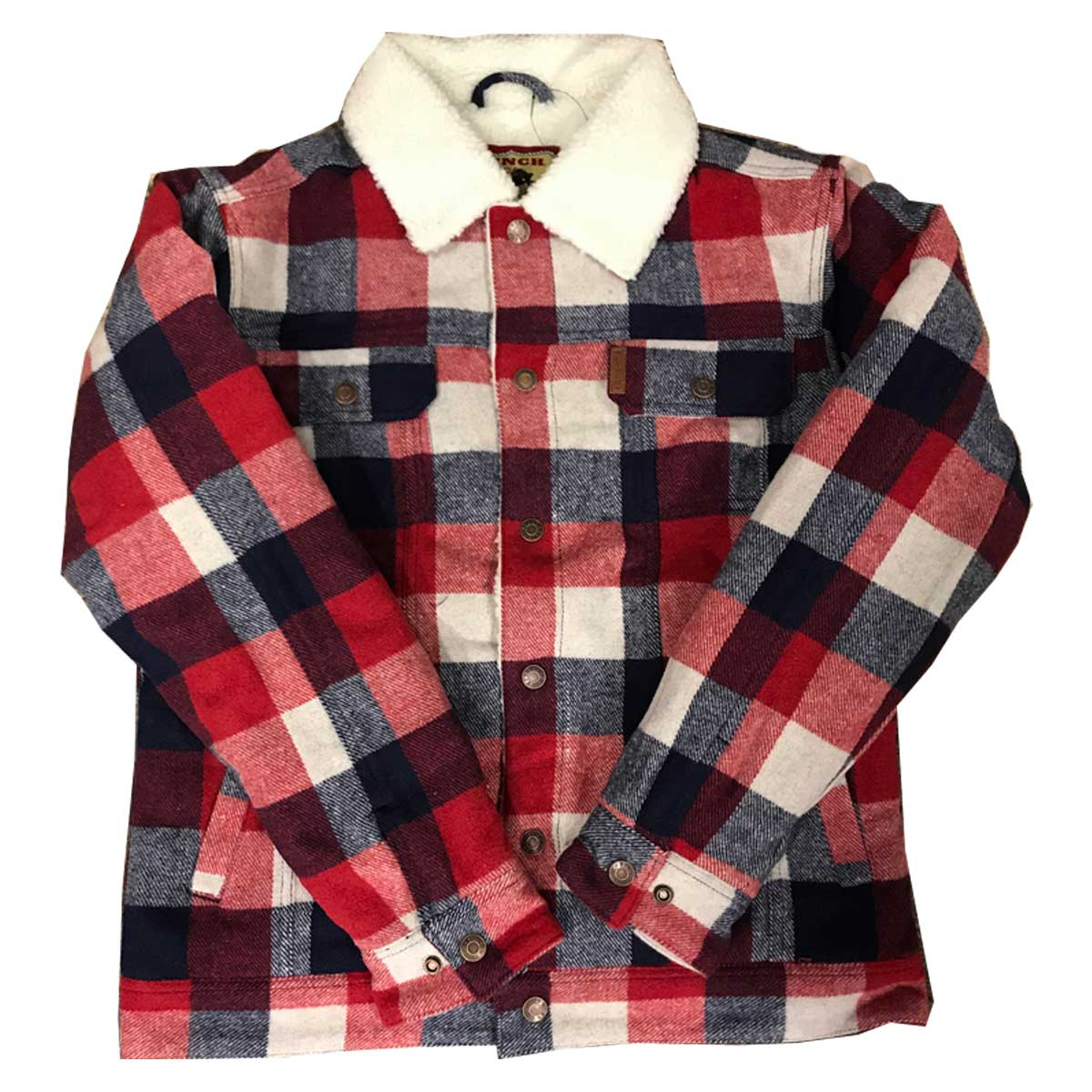 Cinch Men's Trucker Jacket - Red Blue Plaid